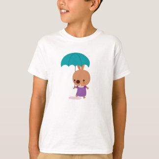 T-shirt Lapin de Mila avec le parapluie du royaume de