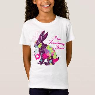 T-Shirt Lapin floral de Pâques de motif