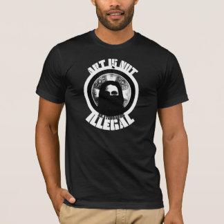 T-shirt l'art n'est pas illégal - les planches à roulettes