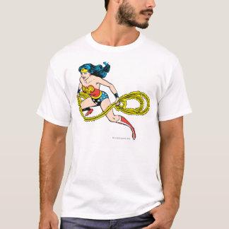 T-shirt Lasso de oscillation de femme de merveille laissé