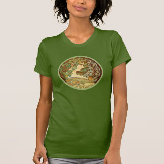 T-shirt Laurier par Alphonse Mucha
