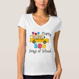 T-shirt L'autobus scolaire célèbrent 100 jours