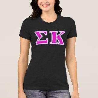 T-shirt Lavande de Kappa de sigma et lettres roses
