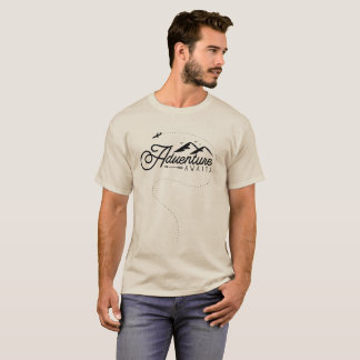"""T-shirt L'avion """"aventure de noir de montagne de voyage"""