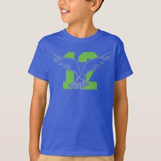T-shirt Le 12ème faucon de fan de Seattle badine le