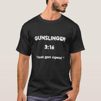 T-shirt Le 3h16 de manieur de pistolet indique que