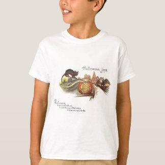 T-shirt Le balai de sorcière de lanterne de Jack O de
