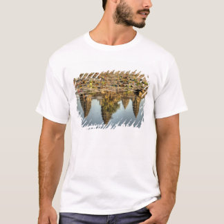 T-shirt Le Cambodge, Angkor Vat. Réflexion de temple