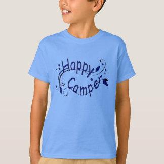 T-shirt Le camping de profondément satisfait badine le