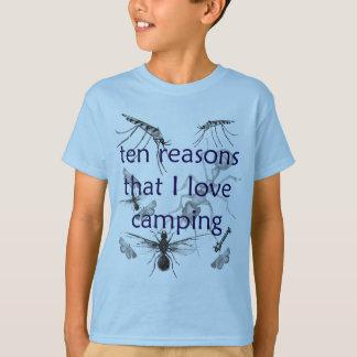 T-shirt Le camping drôle d'amour d'insectes badine le