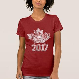 T-shirt Le Canada a établi l'anniversaire 1867 150 ans