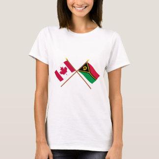T-shirt Le Canada et les drapeaux croisés par Vanuatu
