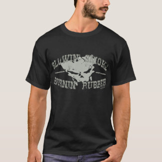 T-shirt Le caoutchouc de brûlure de fumée de coup