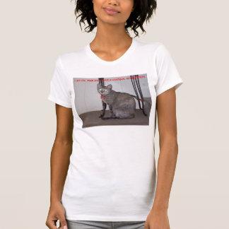 T-shirt Le chat 026, je suis sur PMS et j'ai un pistolet,…