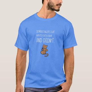 T-shirt Le chat de Schrödinger est entré dans un bleu de
