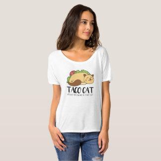 T-shirt Le chat mignon de taco écrit vers l'arrière est