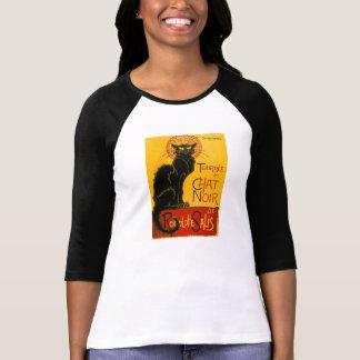 T-shirt Le Chat Noir le cru de Nouveau d'art de chat noir