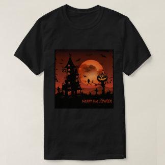 T-shirt Le citrouille de scènes de cimetière de Halloween