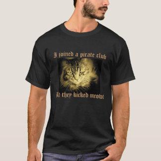 T-shirt Le club de pirate a donné un coup de pied Meowt
