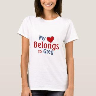 T-shirt Le coeur appartient à Greg