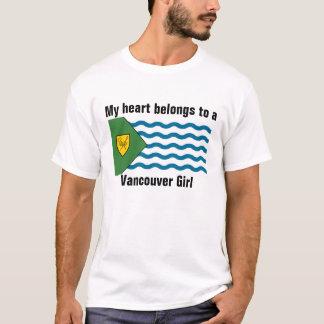 T-shirt Le coeur appartient à une fille de Vancouver