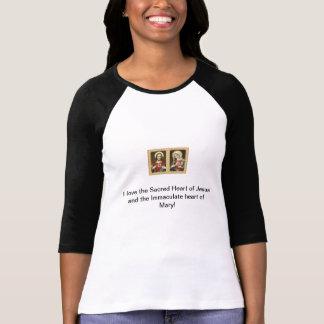 T-shirt Le coeur sacré de Jésus et de l'impeccable il…