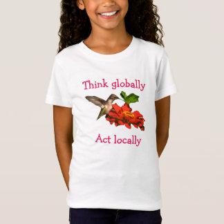 T-Shirt Le colibri pensent dessus globalement l'acte