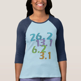 T-shirt le coureur distance 3,1, 6,2, 13,1 et 26,2