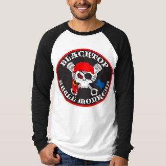 T-shirt Le crâne d'asphalte Monkeys le logo sur le long