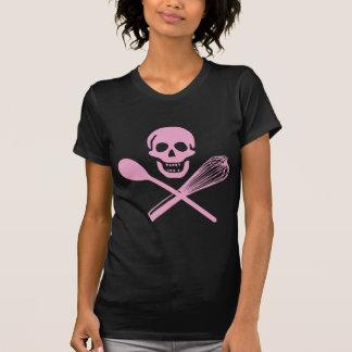 T-shirt Le crâne et la croix battent le rose