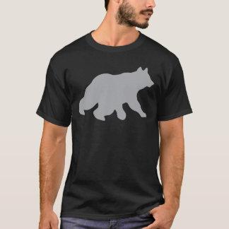 T-shirt Le croisement gris d'ours dépiste chasser le yogi