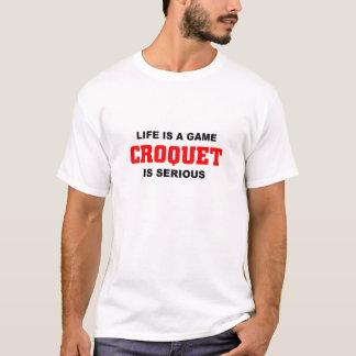 T-shirt Le croquet est sérieux