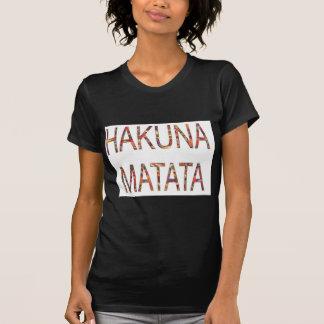 T-shirt Le cru africain de dames colore Hakuna Matata