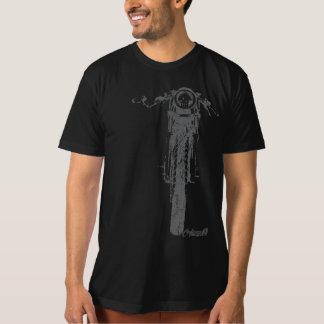 T-shirt Le cru frontal de coureur de café a dénommé la