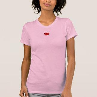 T-shirt le dessus des dames - coeur rouge