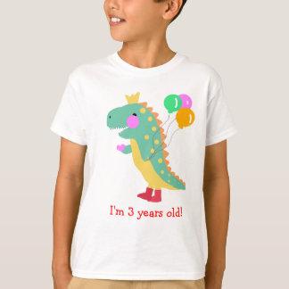 T-shirt Le dinosaure d'anniversaire badine la chemise
