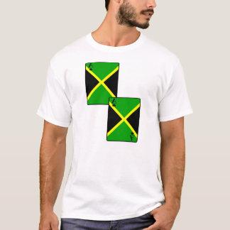 T-shirt Le drapeau de la Jamaïque carde des hommes et des