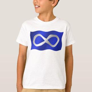T-shirt Le drapeau de Metis badine le premier tee - shirt