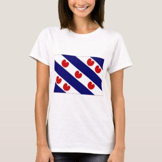 T-shirt Le drapeau néerlandais de la Frise