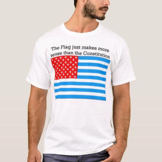 T-shirt Le drapeau semble raisonnable