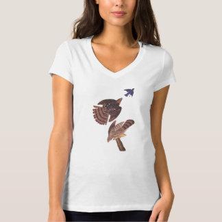 T-shirt Le faucon du tonnelier de faucon d'Audubon Stanley