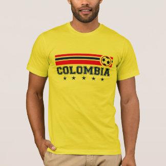T-shirt Le football de la Colombie