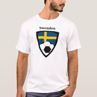 T-shirt Le football de la Suède