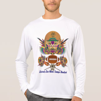 T-shirt Le football de mardi gras pensent qu'il est de