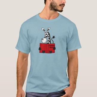 T-shirt Le football drôle de lecture de zèbre ordonne le