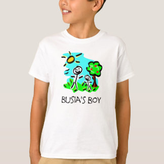 T-shirt Le garçon de Busia (chiffre de bâton)