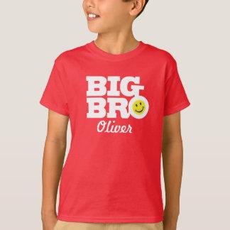 T-shirt Le grand blanc de nom de bro sur le rouge badine