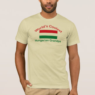 T-shirt Le grand-papa hongrois le plus frais