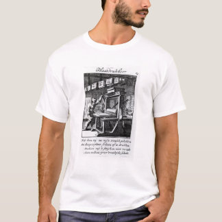 T-shirt Le graveur d'écriture moulée, du 'voor d'I-ETS