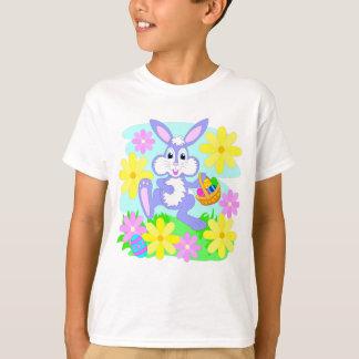 T-shirt Le jaune heureux de rose de lapin de Pâques